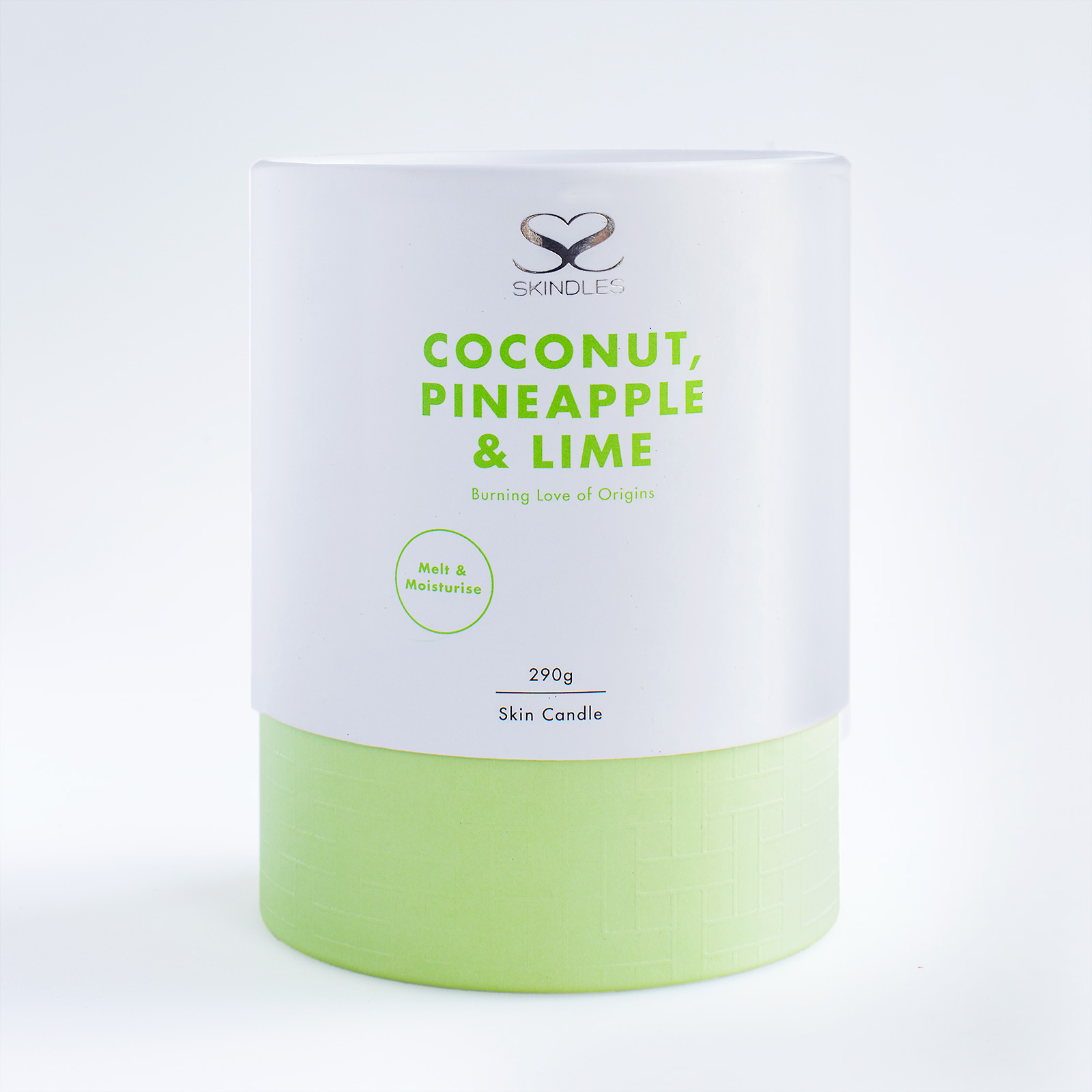 coconut, pineapple and lime candle